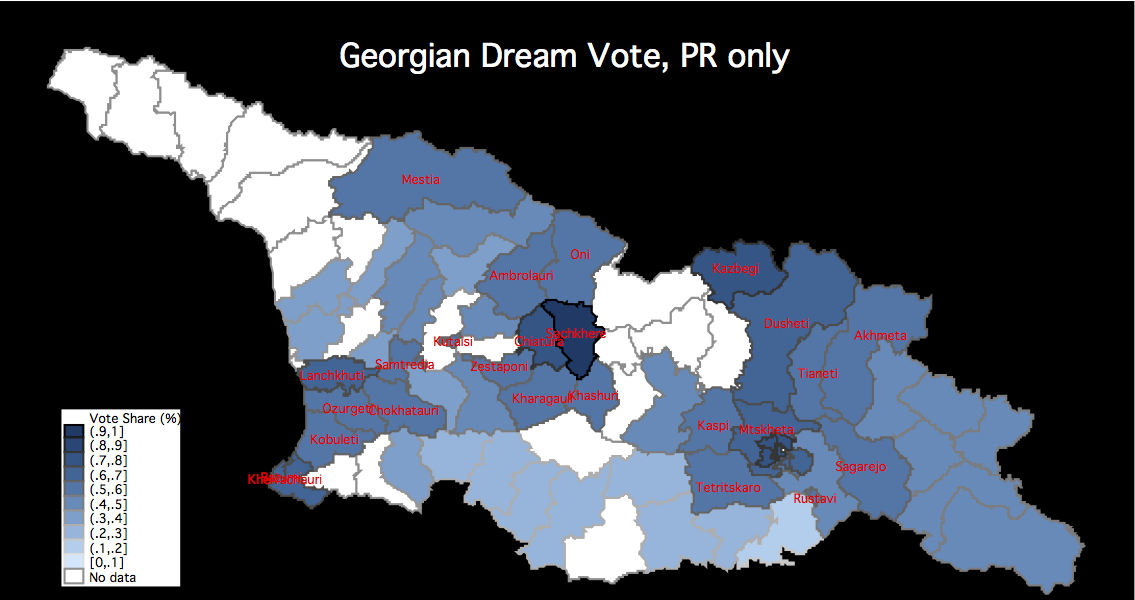 Georgian Parliamentary Election Fraud Forensics And Map Of - Georgia kobuleti map