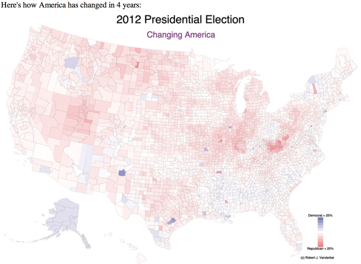 Purple America Map.Purple Maps Of The 2012 Presidential Election The Monkey Cage