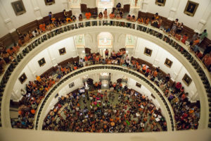 crowd in texas capitol 1